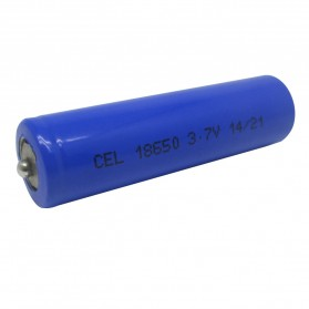 Hame Lithium Ion Cylindrical Battery 3.7V 2200mAh Modified for Torch - HM-18650 - Purple