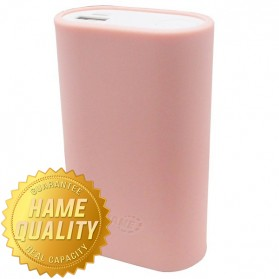 Hame H16 Power Bank with Silicon Cover 11000mAh - Pink