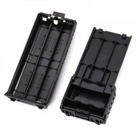 Taffware Walkie Talkie Battery Case 6xAAA for Taffware Pofung Baofeng - Black - 3