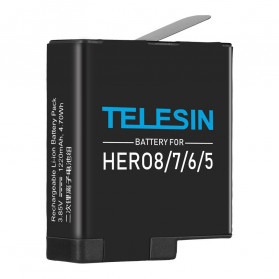 Action Camera, Camera, Tripod, Camera Case - Telesin Baterai GoPro Hero 8 7 6 5 1220mAh - GP-BTR-801 - Black