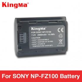 KingMa Baterai Kamera Sony A9 A7R III A7 III - NP-FZ100 - Black