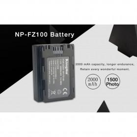 KingMa Baterai Kamera Sony A9 A7R III A7 III - NP-FZ100 - Black - 4
