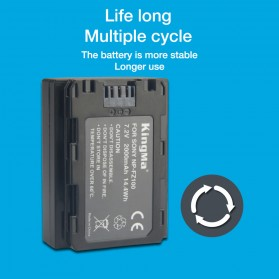 KingMa Baterai Kamera Sony A9 A7R III A7 III - NP-FZ100 - Black - 6