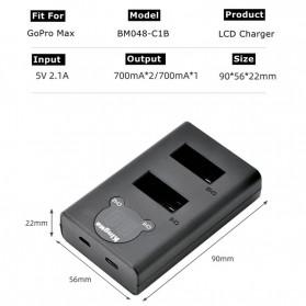 KingMa Baterai GoPro Max 1400mAh - SPCC1B - Black - 4