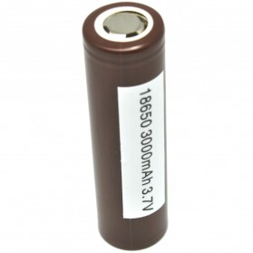 LG HG2 18650 Li-ion Battery 3000mAh 3.7V with Flat Top - Brown
