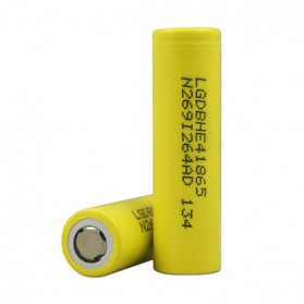 Olahraga & Outdoor - LG HE4 18650 Li-ion Battery 2500mAh 3.6V with Flat Top - Yellow
