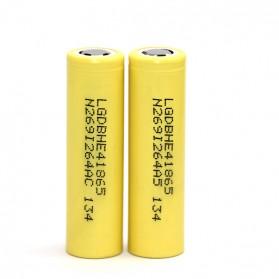 LG HE4 18650 Li-ion Battery 2500mAh 3.6V with Flat Top - Yellow - 3