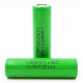 LG DBMJ1 18650 Battery 3500mAh 10A 3.7V with Flat Top - Green