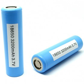 LG MH1 18650 Li-ion Battery 3200mAh 3.6V with Flat Top - Blue - 2