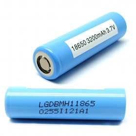 LG MH1 18650 Li-ion Battery 3200mAh 3.6V with Flat Top - Blue - 3