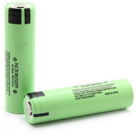 Panasonic 18650 Li-ion IMR Battery 2900mAh 3.6V with Flat Top - Green
