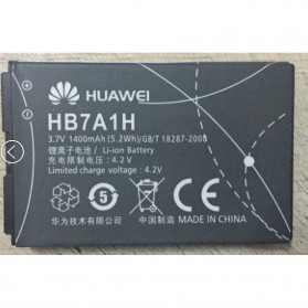 Baterai for Huawei Huawei C6100 C2822 E583C C2823 C2827 C2829 E5830 E5 1400 mAh - HB7A1H - Black - 2