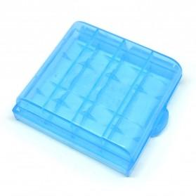 Case Baterai Transparan Untuk 4x14500 - CY045 - Blue - 2