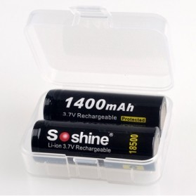 Transparent Battery Case for 2x18500 - Transparent