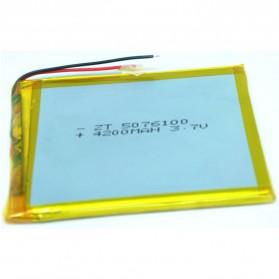 Spare Part Tablet PC - Baterai Li-ion 3.7V 4200mAh (Real 4000mAh) Untuk Ainol 7 Inch - Silver