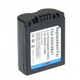 Battery Replacement for Panasonic Lumix DMC-FZ Series DMW-BMA7 CGA-S006 CGAS600 - 800mAh - Black - 2