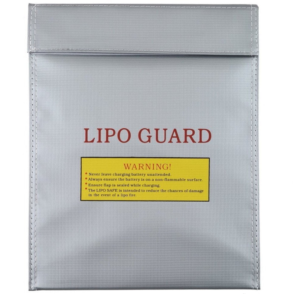 ... Generic RC LiPo Battery Safety Guard Charge Bag 29 x 22.5 cm - AA401 - Silver ...
