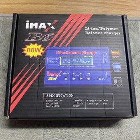 IMAX B6 Charger Baterai LiPo Li-ion Polymer 80W - Blue - 6