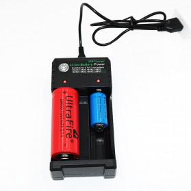 GTF Charger Baterai 18650 2 Slot Plug Micro USB - GF0012 - Black - 3