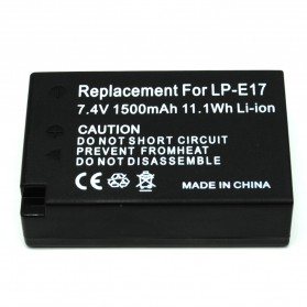 Battery Replacement for Canon LP-E17 1500mAh - Black