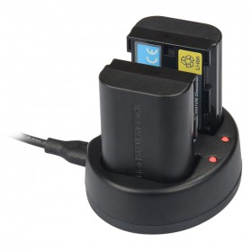 Kingma Charger Baterai 2 Slot Canon 5D2 5D3 70D 60D 6D 7D 7D2 - LP-E6 - Black