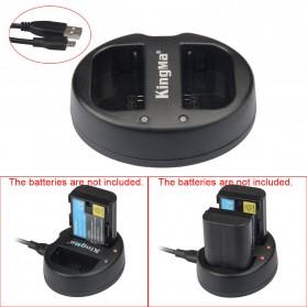 Kingma Charger Baterai 2 Slot Canon 5D2 5D3 70D 60D 6D 7D 7D2 - LP-E6 - Black - 2