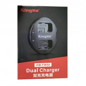Kingma Charger Baterai 2 Slot for Sony A5000 A5100 A6000 A7R NEX6 5T 5R 5N - NP-FW50 - Black - 7