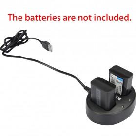 Kingma Charger Baterai 2 Slot for Sony A5000 A5100 A6000 A7R NEX6 5T 5R 5N - NP-FW50 - Black - 3