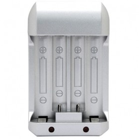 OPUS Charger Baterai for AA AAA Ni-Mh 4 Slot  - C809 - Silver - 2