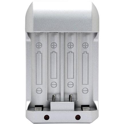 ... Charger Baterai for AA AAA Ni-Mh 4 Slot - C809 - Silver - 2 ... 8ba876e600