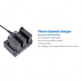 KingMa Charger Baterai 3 Slot untuk Xiaomi Yi 2 4K - BM038 - Black - 3