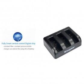 KingMa Charger Baterai 3 Slot untuk Xiaomi Yi 2 4K - BM038 - Black - 4