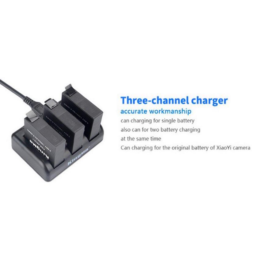 ... KingMa Charger Baterai 3 Slot untuk Xiaomi Yi 2 4K - BM038 - Black - 3 ...