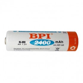 Enelong BPI Ni-MH AA Battery 2400mAh with Button Top 4 PCS - White - 2