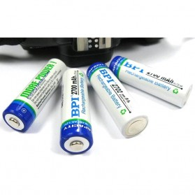 Enelong BPI Ni-MH AA Battery 2700mAh with Button Top 4 PCS - White - 1