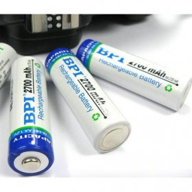 Enelong BPI Ni-MH AA Battery 2700mAh with Button Top 4 PCS - White - 2