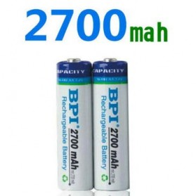 Enelong BPI Ni-MH AA Battery 2700mAh with Button Top 4 PCS - White - 3