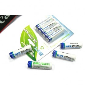 Enelong BPI Ni-MH AA Battery 2700mAh with Button Top 4 PCS - White - 6