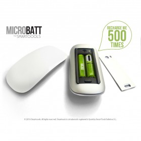 MICROBATT Baterai Cas AAA Micro USB 450mAh 4 PCS - Yellow - 3