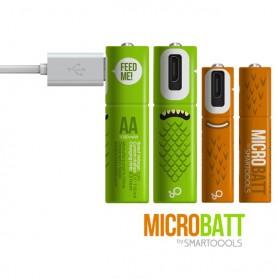 MICROBATT Baterai Cas Rechargeable AA Micro USB 1000mAh 2 PCS - Green - 2