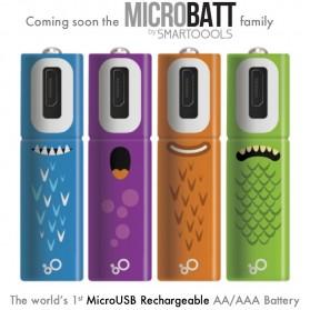 MICROBATT Baterai Cas Rechargeable AA Micro USB 1000mAh 2 PCS - Green - 5