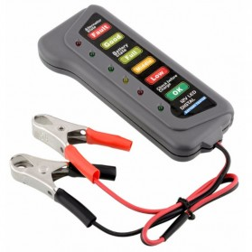 Tirol Tester Baterai Digital 12V 6 LED - BJ-803 - Black - 5
