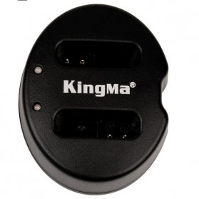 Kingma Charger Baterai 2 Slot Canon G1X Mark II N100 Mini X - NB-12L - Black