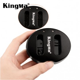 Kingma Charger Baterai 2 Slot Canon G1X Mark II N100 Mini X - NB-12L - Black - 2