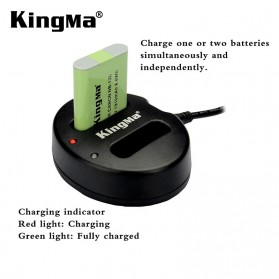 Kingma Charger Baterai 2 Slot Canon G1X Mark II N100 Mini X - NB-12L - Black - 5