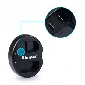 Kingma Charger Baterai 2 Slot Nikon D7000 7100 600 800 - EN-EL15 - Black - 4