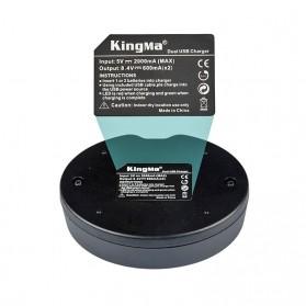Kingma Charger Baterai 2 Slot Nikon D7000 7100 600 800 - EN-EL15 - Black - 5