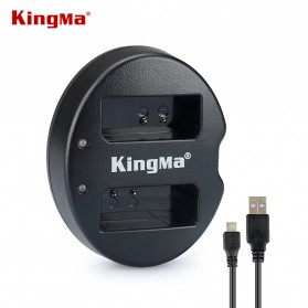 Kingma Charger Baterai 2 Slot Canon 1100D 1200D - LP-E10 - Black