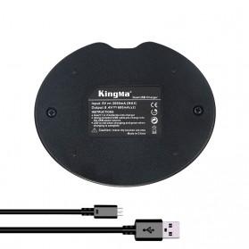 Kingma Charger Baterai 2 Slot Canon 1100D 1200D - LP-E10 - Black - 5