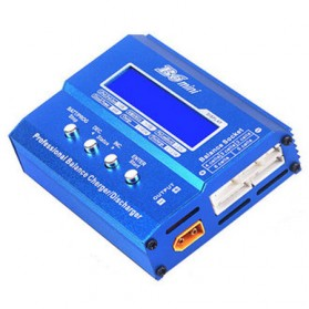 Cell Baterai 18650 / 18350 / 26650 & Adapter - B6 Mini Profesional Charger Baterai LiPo 80W - Blue